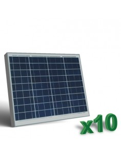 Set 10 x 50W 12V Panneau Solaire Photovoltaique tot. 500W Camper Bateau Hutte