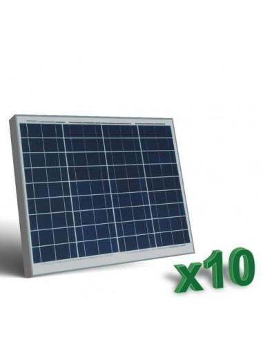 Set 10 x Pannelli Solari Fotovoltaici 50W  12V tot. 500W Camper Barca Baita