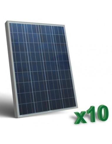 Set 10 x 100W 12 Panneau Solaire Photovoltaique tot. 1 Kw Camper Bateau Hutte
