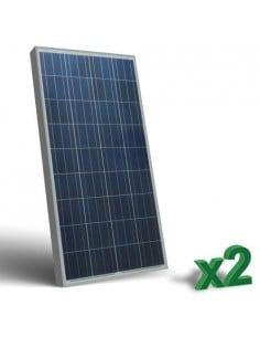 Set 2 x Pannelli Solari Fotovoltaico 130W  12V tot. 260W Camper Barca Baita