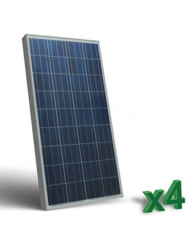 Set 4 x 130W 12 Photovoltaik Solar Panel tot. 520W Wohnmobil Boot Hütte