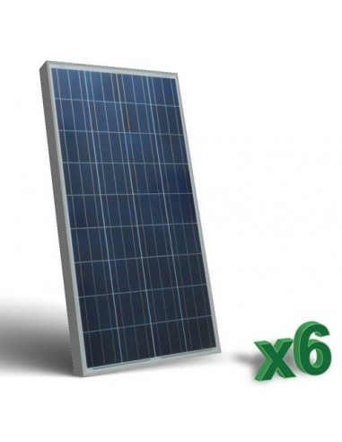 6 x 130W 12 Photovoltaic Solar Panels Set tot. 780W Camper Boat Hut