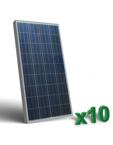 10 x 150W 12 Photovoltaic Solar Panels Set tot. 1,5 Kw Camper Boat Hut