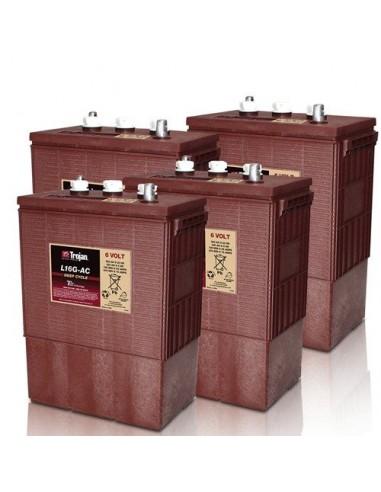 8x Batterie 390Ah 6V Trojan L16G-AC véhicules électriques photovoltaïque RV