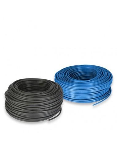 Cable electrique set 4mm 10mt rouge et 10mt noir for Cable electrique exterieur