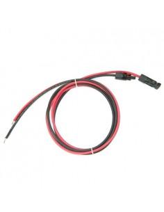 Set Cavo Solare 6mm 1mt Rosso e 1mt Nero con Connettori MC4