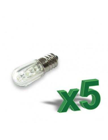 SET 5 x 0,4 W lampes LED 12V « ambre »