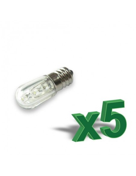 SET 5 x LAMPADA LED VOTIVA 0,4 W 12V ambra