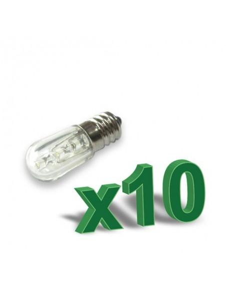 SET 10 x LAMPADA LED VOTIVA 0,4 W 12V ambra