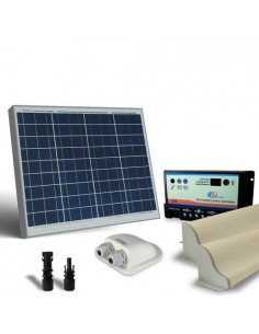 Kit Solaire Camper 50W 12V Base Panneau Photovoltaique Contrôleur Accessoires