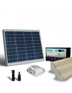 Kit Solare Camper 50W 12V Base Pannello Fotovoltaico, Regolatore, Accessori