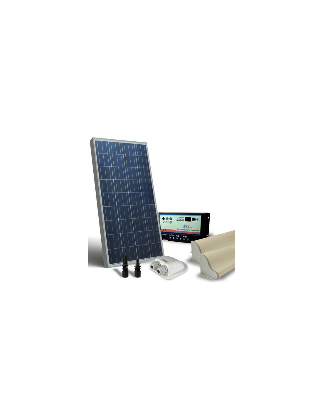 Kit solar camper 150w 12v base panel fotovoltaico for Kit solar fotovoltaico