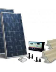 Kit Solare Camper 160W 12V Base Pannello Fotovoltaico, Regolatore, Accessori