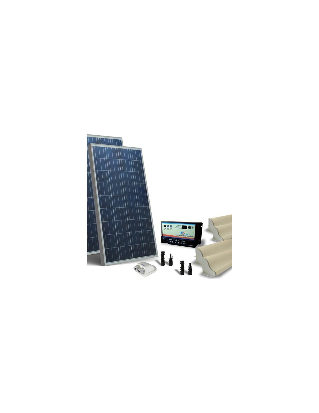 Kit Pannello Solare Roulotte : Kit solare camper w v base pannello fotovoltaico