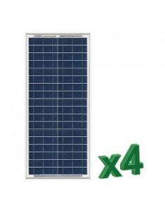 Set 4 x 30W 12V Panneau Solaire Photovoltaique tot. 120W Camper Bateau Hutte