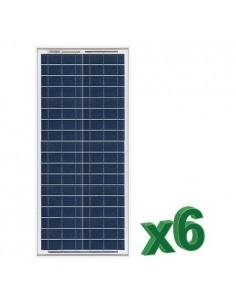 Set 6 x Pannelli Solari Fotovoltaico 30W  12V tot. 180W Camper Barca Baita