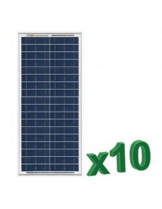 Set 10 x 30W 12V Panneau Solaire Photovoltaique tot. 300W Camper Bateau Hutte