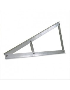Triangle made in Aluminium for mounting panels in horizontal at 20, 25 and 30 degrees