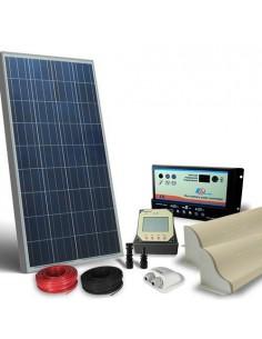 Kit Solare Camper 100W 12V Pro Pannello Fotovoltaico, Regolatore, Accessori