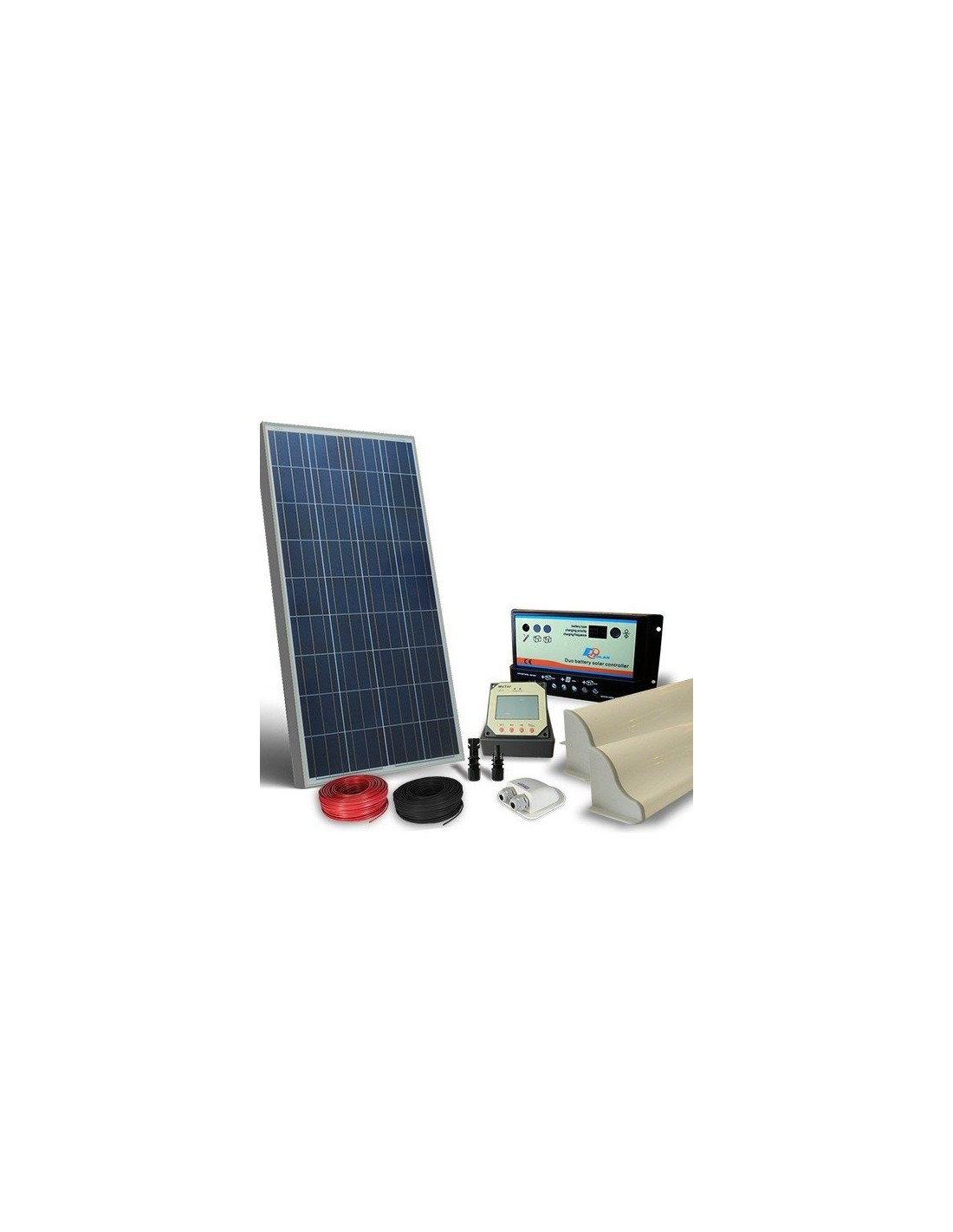 Kit solar camper 100w 12v pro panel fotovoltaico for Kit solar fotovoltaico