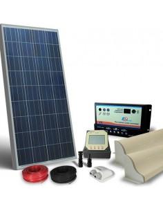 Kit Solare Camper 130W 12V Pro Pannello Fotovoltaico, Regolatore, Accessori