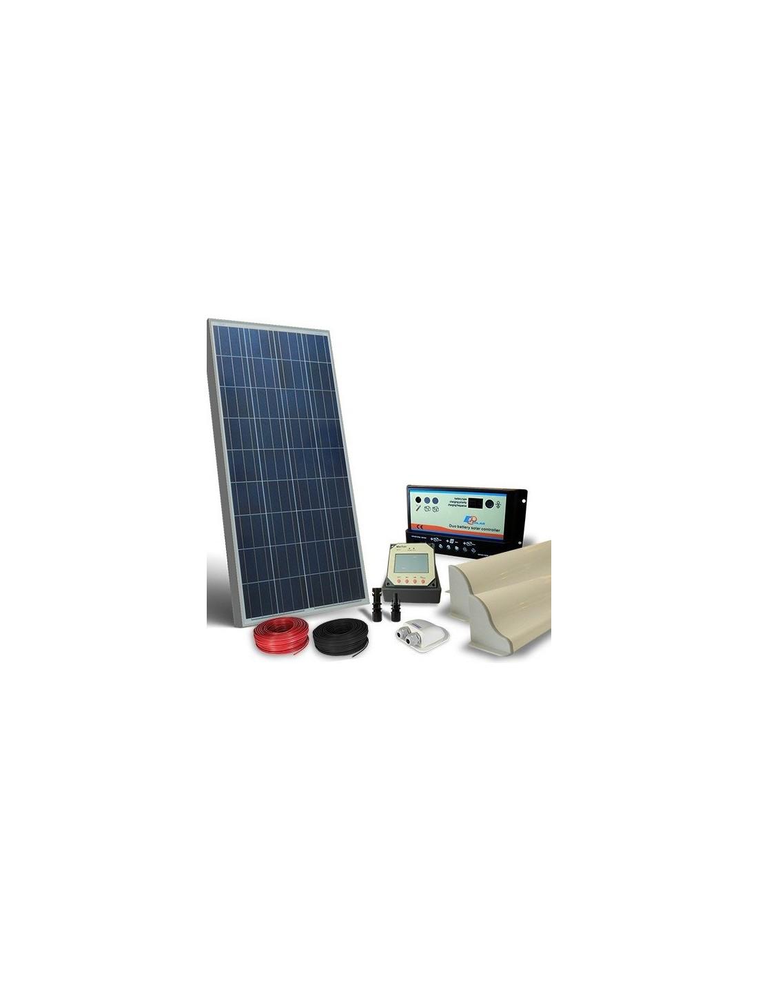 Schema Collegamento Fotovoltaico : Kit solare camper w v pro pannello fotovoltaico regolatore