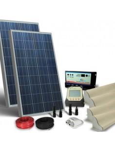 Kit Solare Camper 160W 12V Pro Pannello Fotovoltaico, Regolatore, Accessori