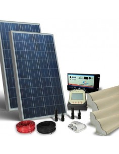 Solar Kit Camper 160W 12V Pro Photovoltaik Panel