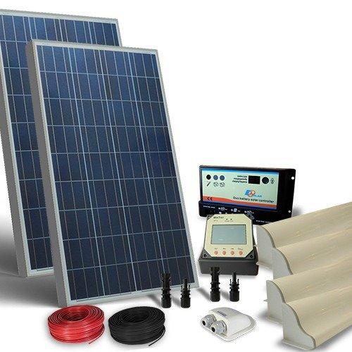 Regolatore Pannello Solare Camper : Kit solare camper w v pro pannello fotovoltaico