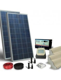 Kit Solare Camper 200W 12V Pro Pannello Fotovoltaico, Regolatore, Accessori