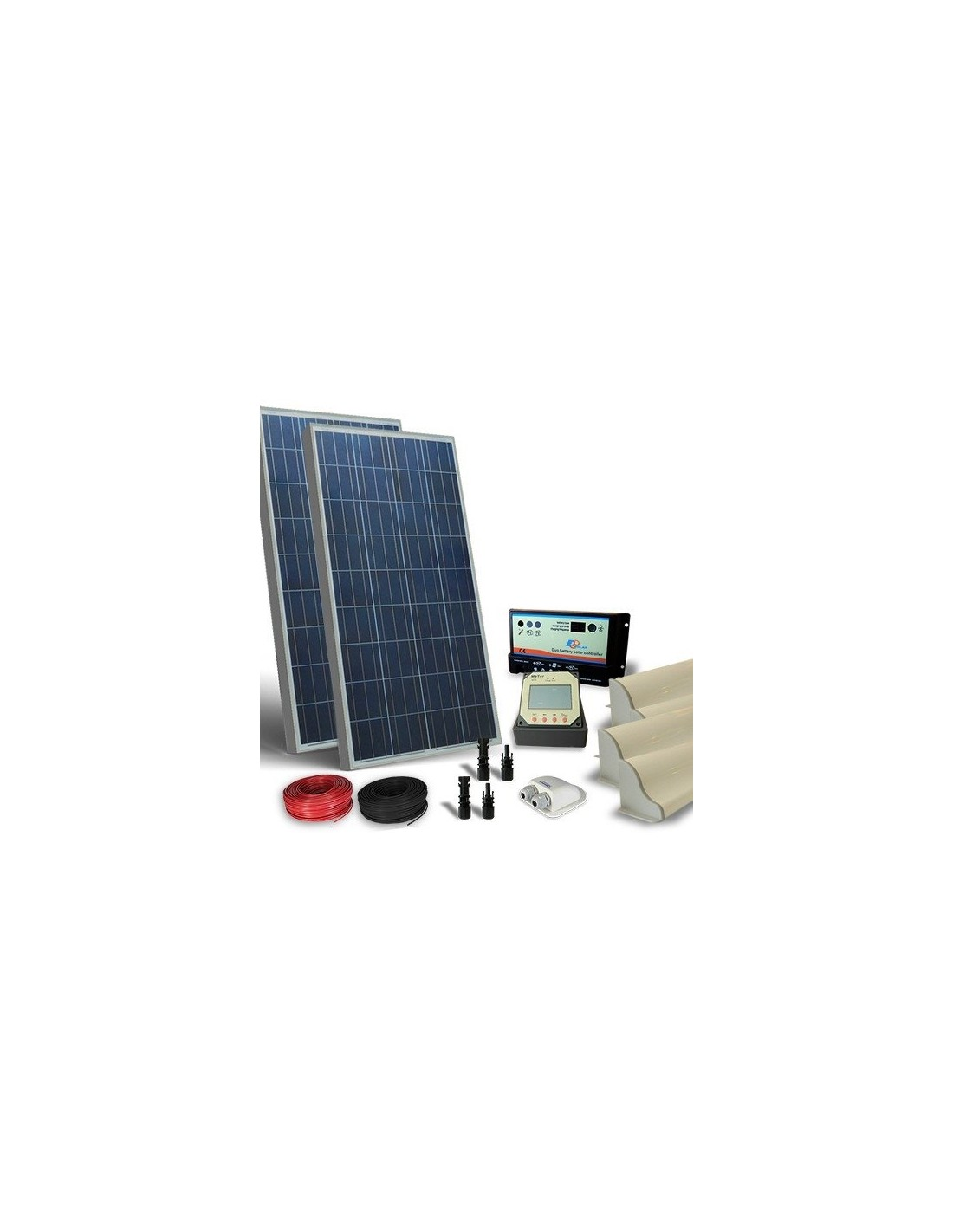 Pannello Solare Camper : Kit solare camper w v pro pannello fotovoltaico