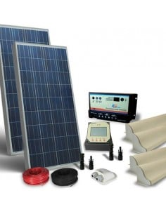 Kit Solare Camper 300W 12V Pro Pannello Fotovoltaico, Regolatore, Accessori