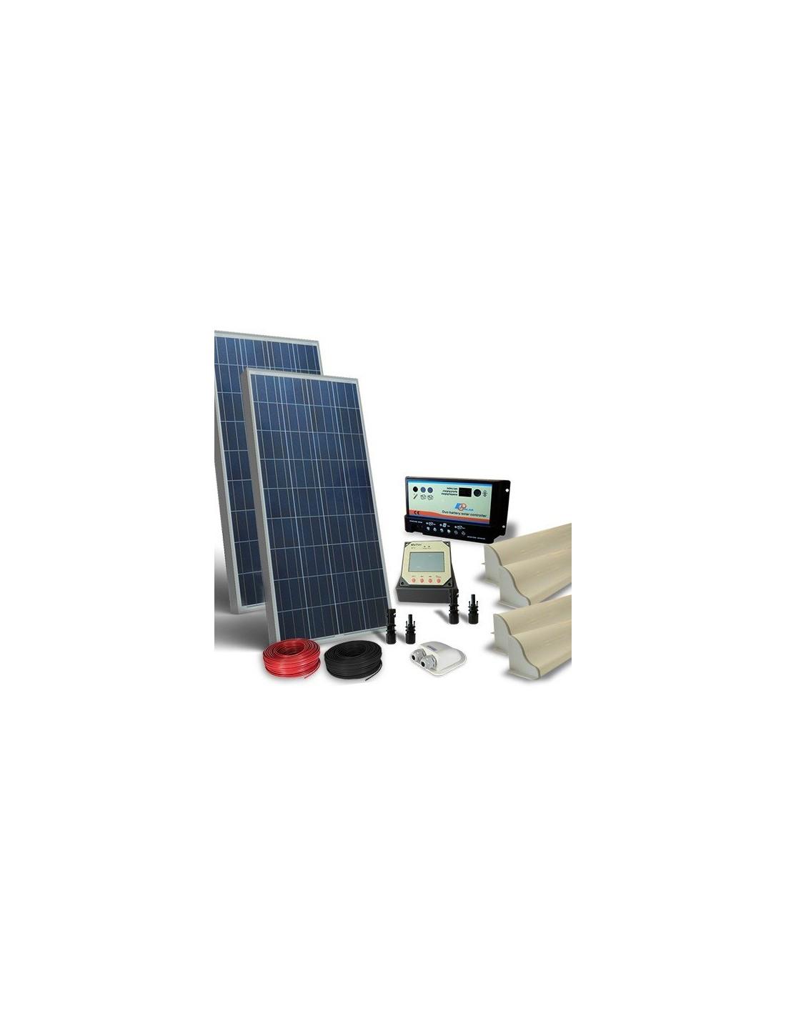 Kit Pannello Solare Roulotte : Kit solare camper w v pro pannello fotovoltaico