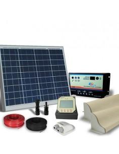 Kit Solare Camper 50W 12V Pro Pannello Fotovoltaico, Regolatore, Accessori