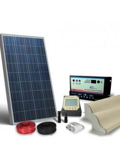 Kit Solare Camper 80W 12V Pro Pannello Fotovoltaico, Regolatore, Accessori