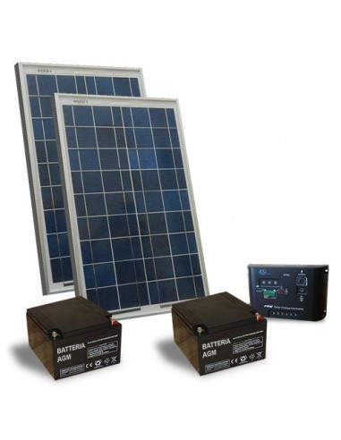 Kit Solaire Portail Electrique Motorisé 40W 24V Panneau Solaire Batterie