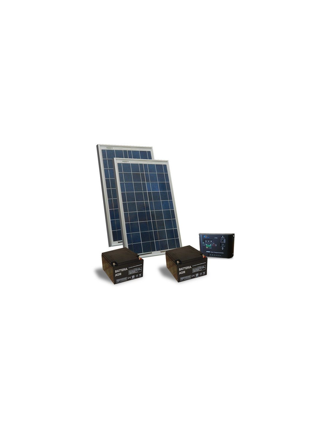 Kit solaire portail electrique motoris 40w 24v panneau for Portail electrique solaire