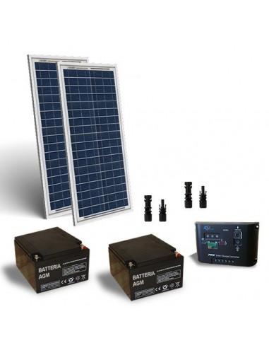 Solar-Kit elektrifiziert Turen 60W 24V Solarmodule Laderegler