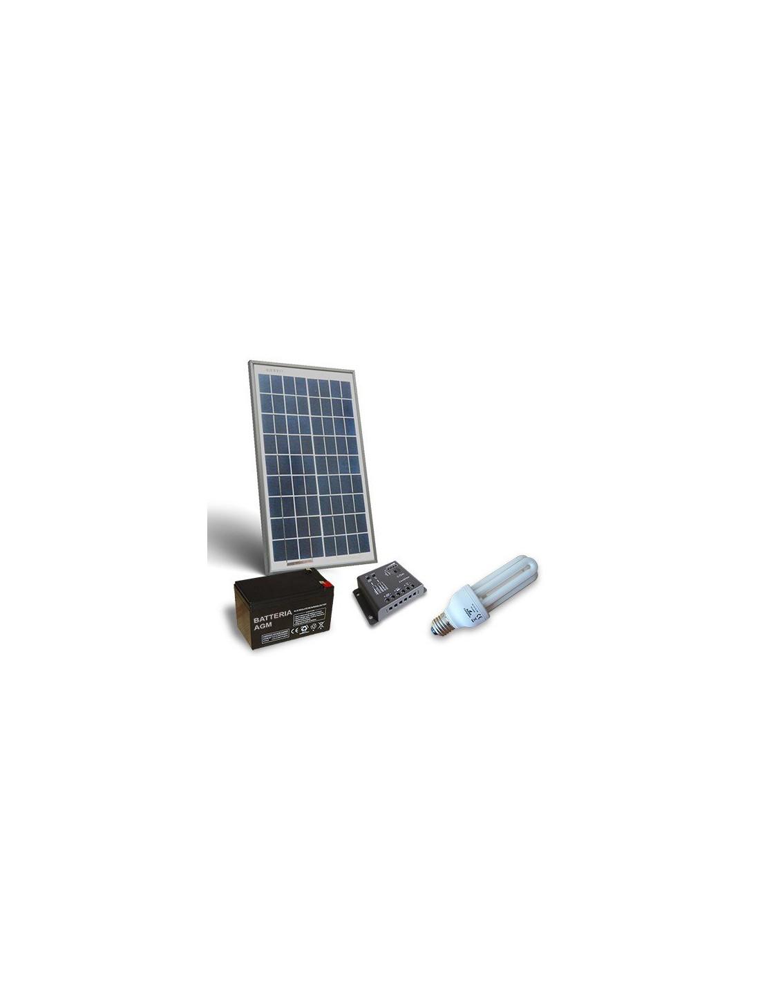 Kit Pannello Solare 10w : Kit solare illuminazione fluo w v per interni