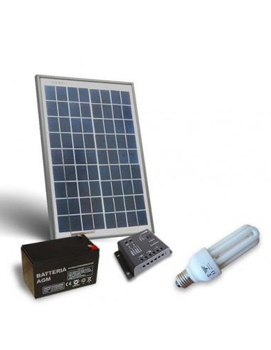 Kit Solaire d'Eclairage Fluo PUNTOENERGIA 20W 12V pour Interieur Photovoltaique