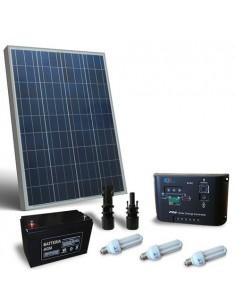 Kit Solare Illuminazione Fluo 80W 12V per Interni Fotovoltaico