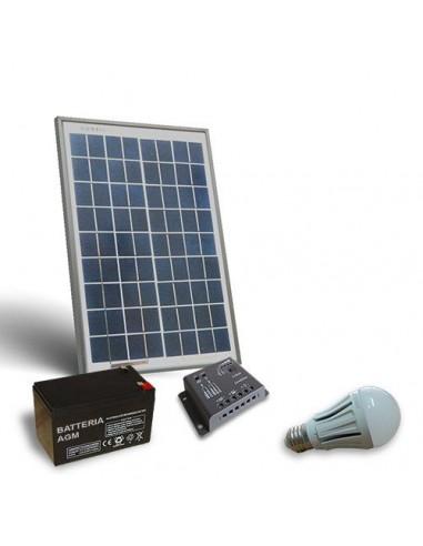 Kit d'eclairage solaire LED 20W pour intérieurs panneau photovoltaïque