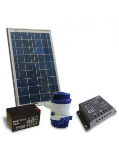 Kit Solare Irrigazione 24 l/m 12V Pannello Regolatore di carica Pompa Batteria