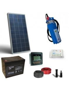 Kit Solaire Photovoltaique pour Pompage d'eau 100W 12V-180 L/h a Prevalence 20mt