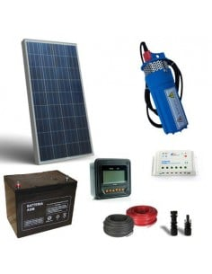 Solar Kit Watering 130W 12V 170 L/h prevalence 30mt Pumping Photovoltaic