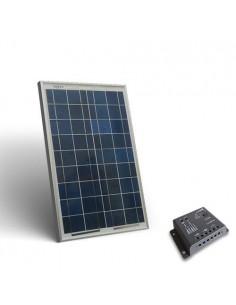 Kit Solare Base 10W 12V Pannello Fotovoltaico Regolatore 5A PWM