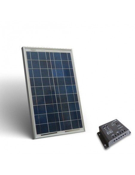 10W Solar-Kit base Solarmodul Photovoltaik Panel Laderegler 5A - PWM