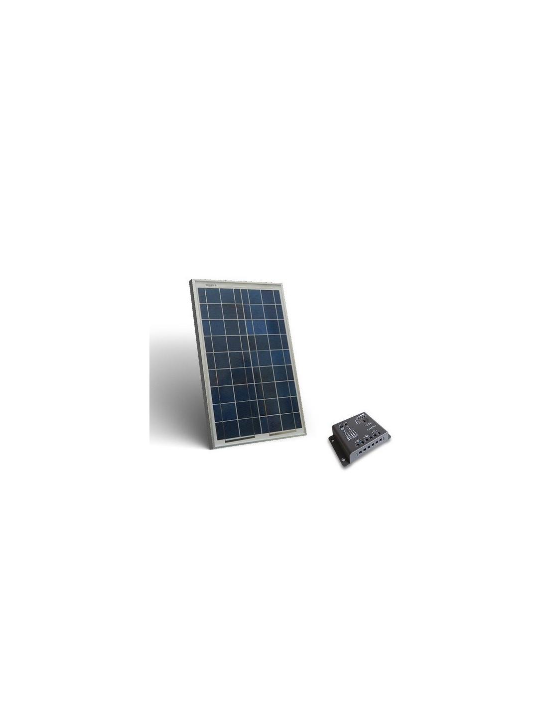 kit solaire 10w base panneau photovoltaique regulateur de charge. Black Bedroom Furniture Sets. Home Design Ideas