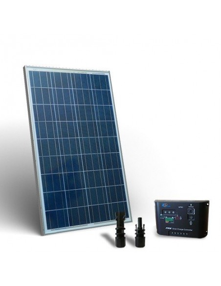 Solar Kit base 100W Placa Solar + Regulador de Carga 10A - PWM