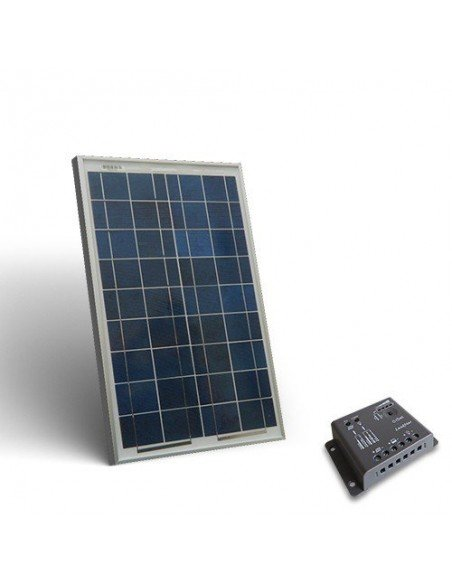 20W Solar Kit base Placa Solar Panel Fotovoltaico Regulador de Carga 5A - PWM